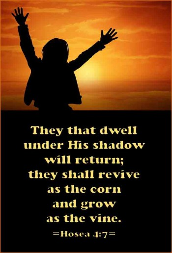 They that dwell in His shadow will return to God.
