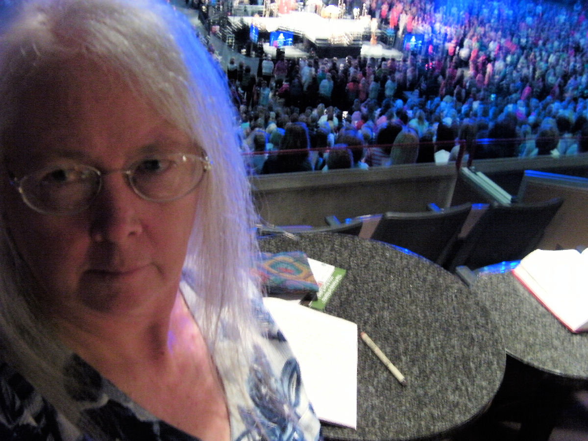 Linda Jo Martin at the Spokane Areana to see Beth Moore in 2014